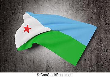 Djibouti flag waving