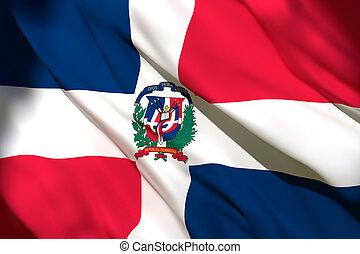 3d rendering of Dominican Republic flag