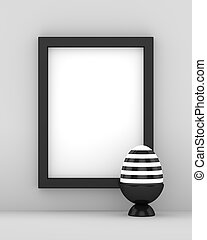3d rendering of Easter eggs with blank space