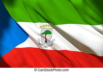 3d rendering of Equatorial Guinea flag