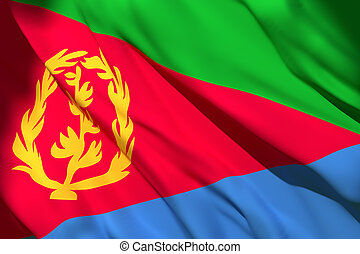 3d rendering of Eritrea flag