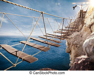 3D Rendering of exultation after overcoming an obstacle