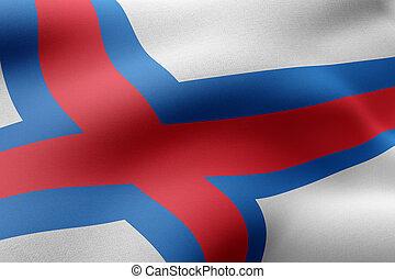 Faroe Islands flag waving