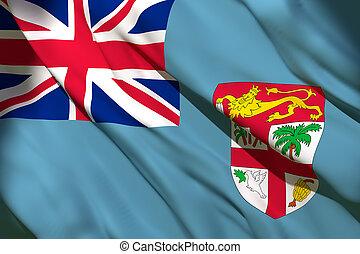 Fidji flag waving