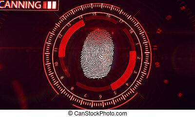 Fingerprint scanning technology.