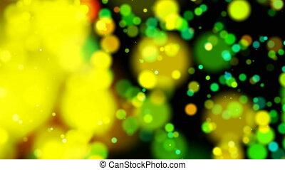 3d rendering of glitter vintage lights background. dark gold...