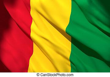 3d rendering of Guinea flag