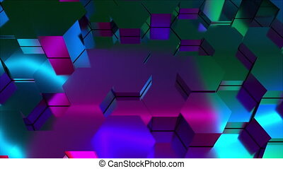 3d rendering of honeycomb background. Computer generated abstract design.