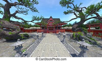 3D rendering of Japanese style mansion