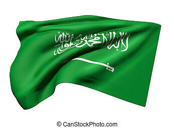 Kingdom of Saudi Arabia flag waving