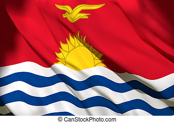 Kiribati flag waving