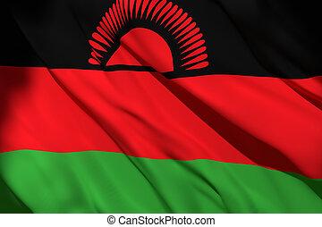 3d rendering of Malawi flag