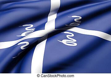 Martinique flag waving - 3d rendering of Martinique flag ...