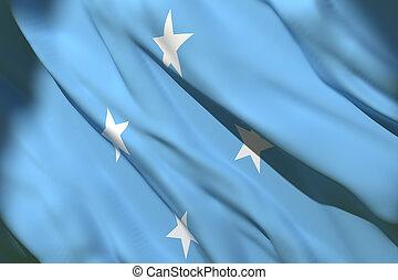 Micronesia flag waving