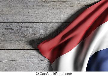 Netherlands flag waving