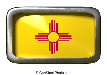 3d rendering of New Mexico State flag