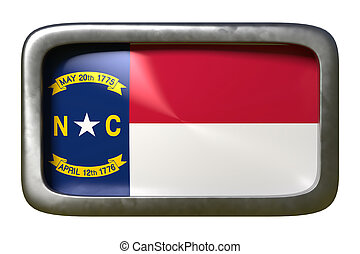 3d rendering of North Carolina State flag