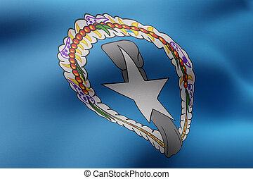 Northern Mariana Islands flag waving
