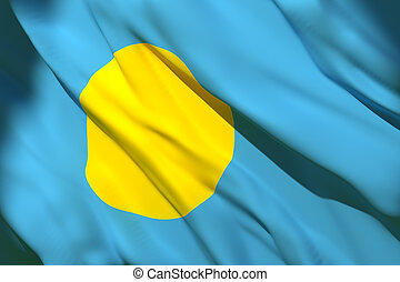 Palau flag waving