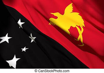 Papua New Guinea flag waving