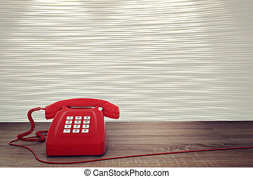 3D rendering of red telephone