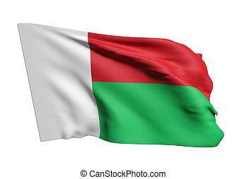 Republic Of Madagascar Flag Illustrations And Clip Art - Madagascar flag