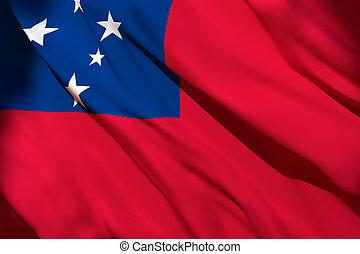 Samoa flag waving