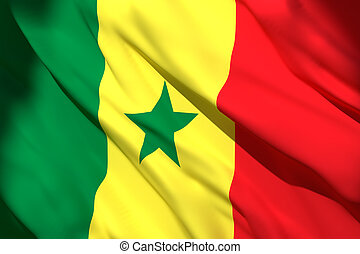 3d rendering of Senegal flag