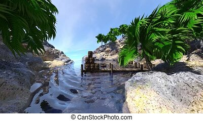 3D rendering of solitary island