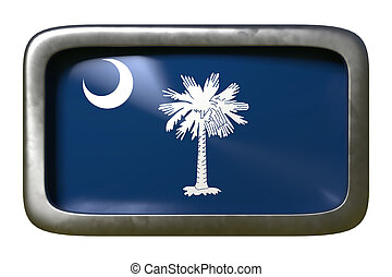 3d rendering of South Carolina State flag