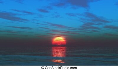 3D rendering of sunset