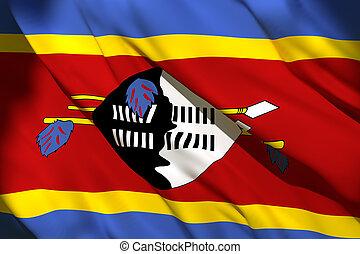 3d rendering of Swaziland flag