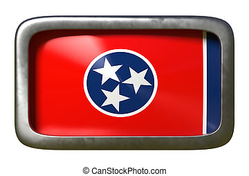 3d rendering of Tennessee State flag