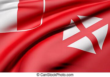 Wallis and Futuna Islands flag waving