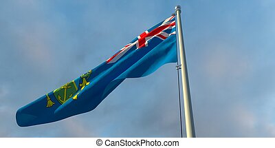 3d rendering of the national flag of the Pitcairn islands