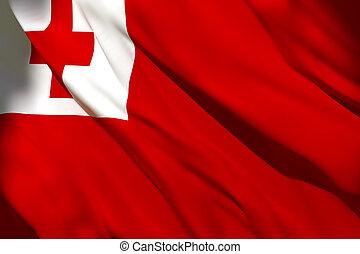 Tonga flag waving