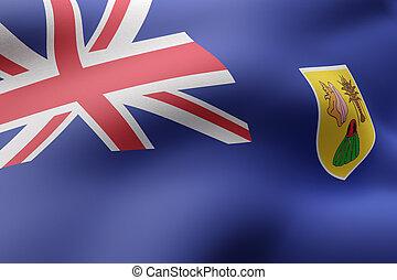 Turks and Caicos Islands flag waving