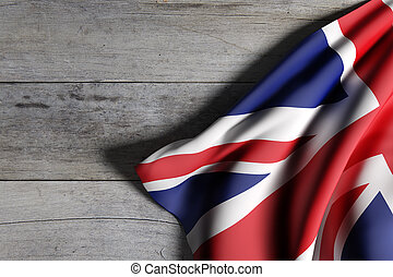 United Kingdom flag waving