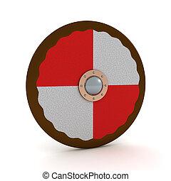 3D Rendering of viking shield