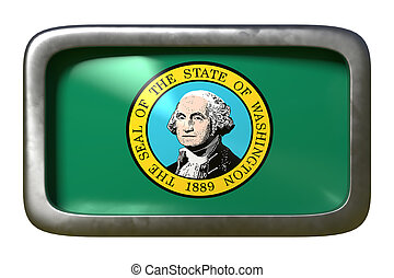 3d rendering of Washington State flag