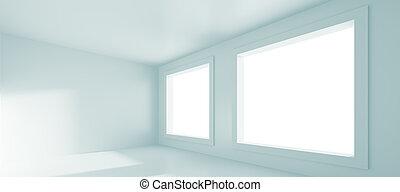 Empty Room - 3d Rendering of White Empty Room