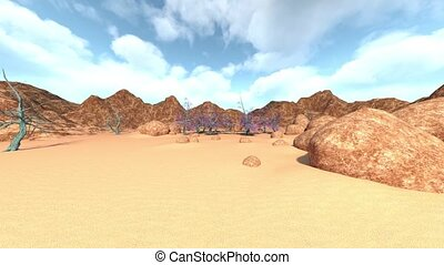 3D rendering of wilderness Landscape