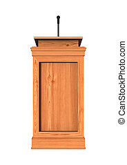 3D Rendering Podium on White