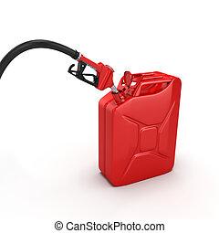 3D rendering refueling nozzle - Realistic 3D rendering...