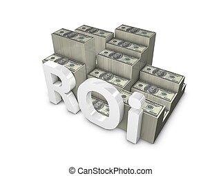 Return on Investment - 3d rendering, ROI; Return on ...