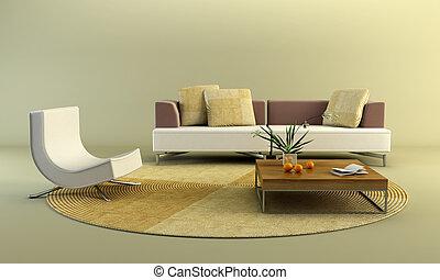 3d rendering scene of the lounge room
