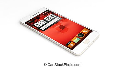 3d rendering smartphone on white background