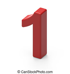 smooth red number 1