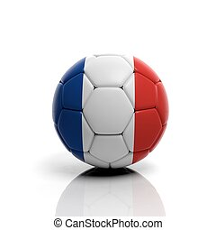 3d rendering Soccer ball with France flag
