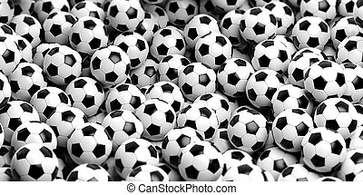 3d rendering soccer balls background - 3d rendering soccer ...